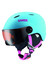 UVEX Junior visor pro skihelm Kinderen turquoise